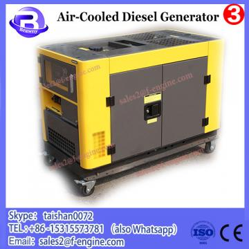 Small portable electric air-cooled diesel generator