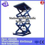 Large capacity hydraulic forklift stationary scissor dock lift