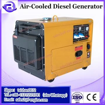 hot saling with wheels and rails 4-Stroke air-cooled 5ka silent diesel generator